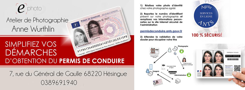 Simplifiez vos démarches, photo du permis de conduire